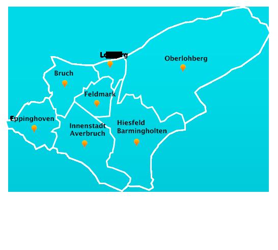 Stadtteile Winterdienst Schnee- Eisbeseitigung Dinslaken